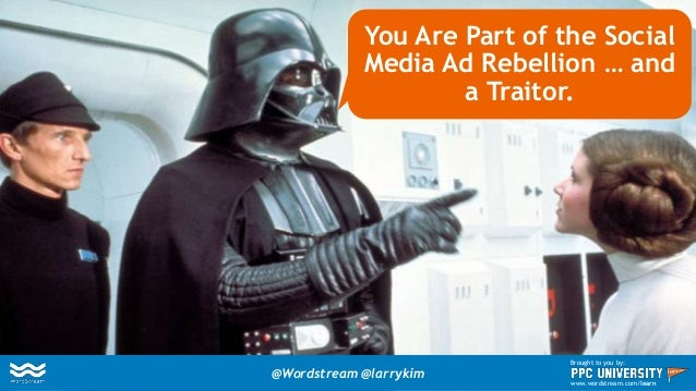 You Are Part of the Social Media Ad Rebellion … and a Traitor. @Wordstream @larrykim Brought to you by: www.wordstream.com...
