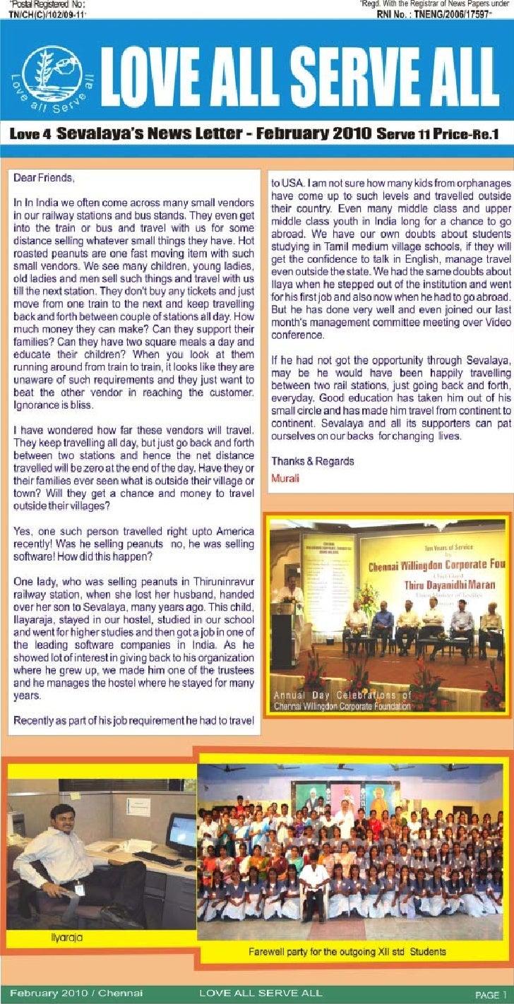 February 2010 News Letter