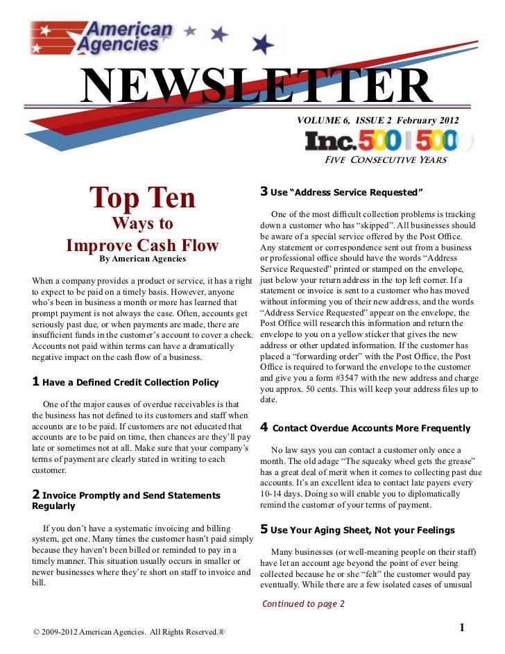 NEWSLETTER                                                  VOLUME 6, ISSUE 2 February 2012                               ...