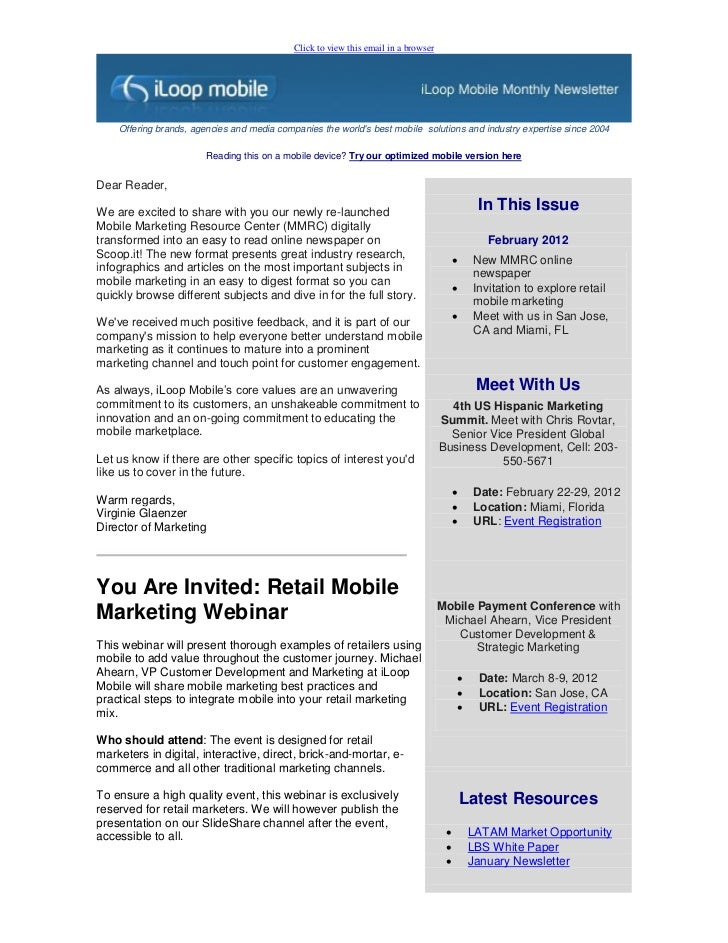 Click to view this email in a browser    Offering brands, agencies and media companies the worlds best mobile solutions an...