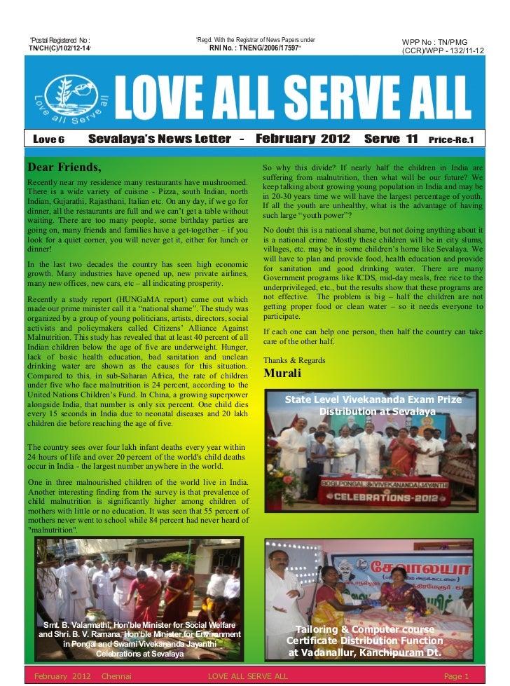 February 2012 News Letter