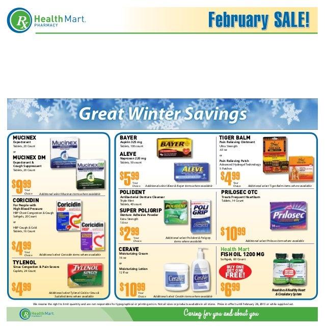 February SALE!                                                       Great Winter SavingsMUCINEX                          ...