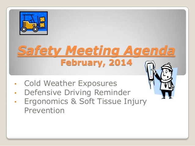 safety meeting outlines