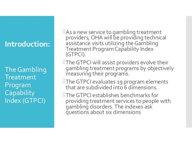 Gambling treatment services casino pachangas travel