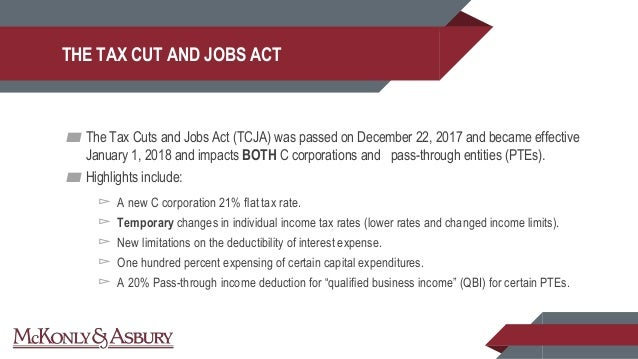 Business Valuation Update Amp Impact Of The Tax Cuts And Jobs Act