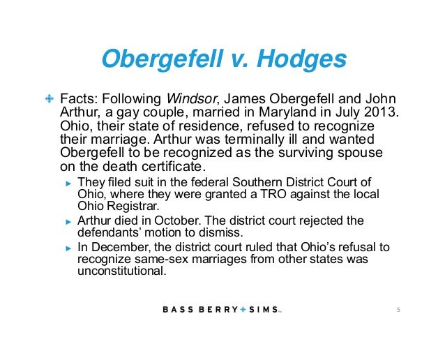 an analysis of obergefell v hodges Obergefell et al v hodges, director, ohio department of health, et al this analysis compels the conclusion that same-sex couples may ex.