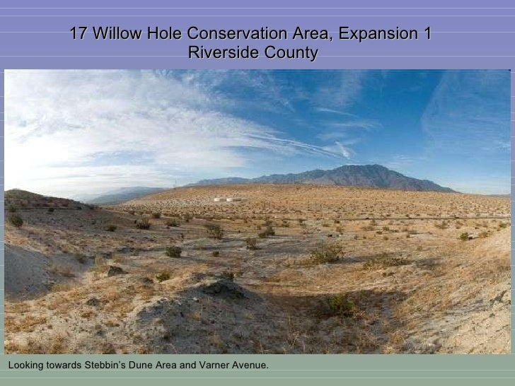 17 Willow Hole Conservation Area, Expansion 1  Riverside County Looking towards Stebbin's Dune Area and Varner Avenue.