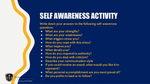 Self Amp Skills Awareness Presentation Leadership Values