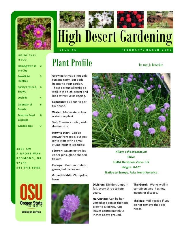 High Desert Gardening                          I S S U E  4 6                                  F E B R U A R Y / M A R C...