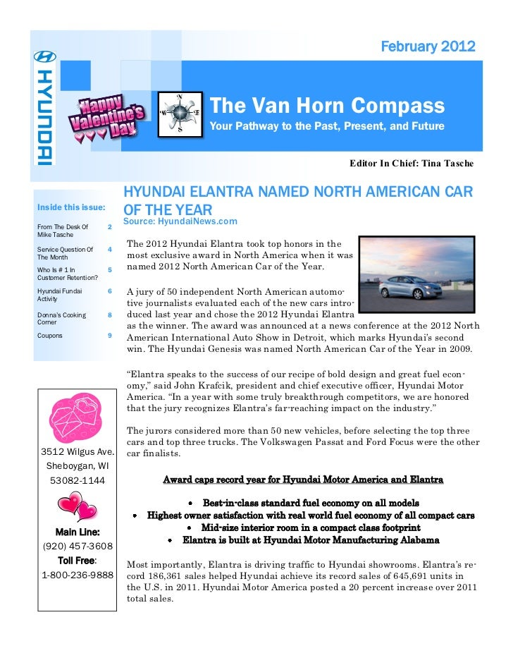 February 2012                                             The Van Horn Compass                                            ...