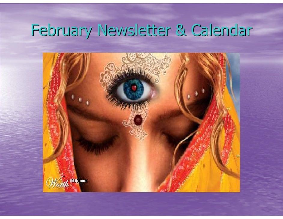 February Newsletter & Calendar