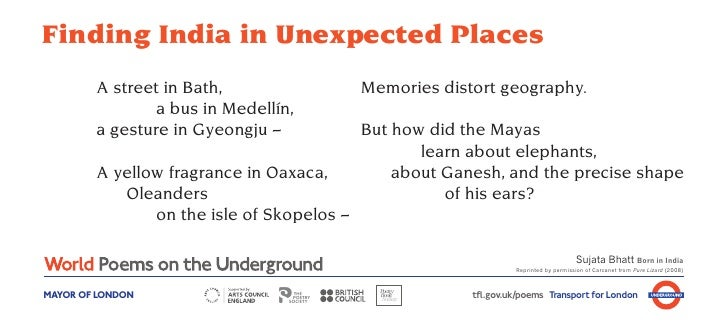 Finding India in Unexpected Places        A street in Bath,                  Memories distort geography.                a ...