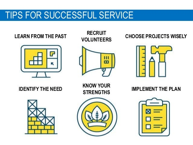 1 5 TIPS FOR SUCCESSFUL SERVICE IDENTIFY THE NEED LEARN FROM THE PAST KNOW YOUR STRENGTHS CHOOSE PROJECTS WISELY RECRUIT V...