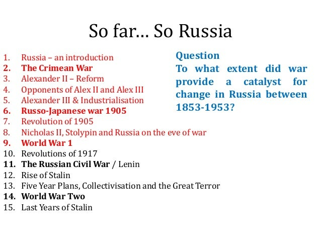 An introduction to the history of russian revolution