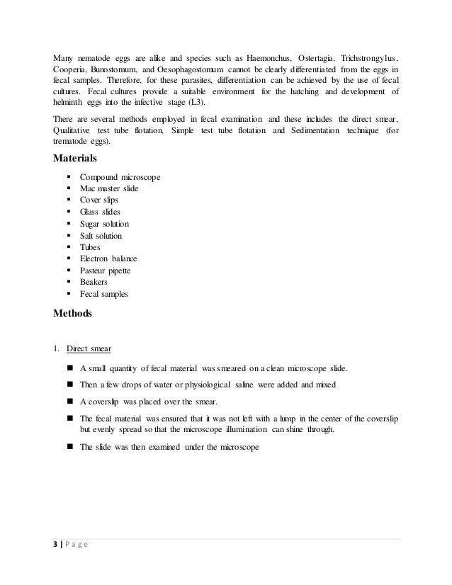 how to write materials and methods in lab report example