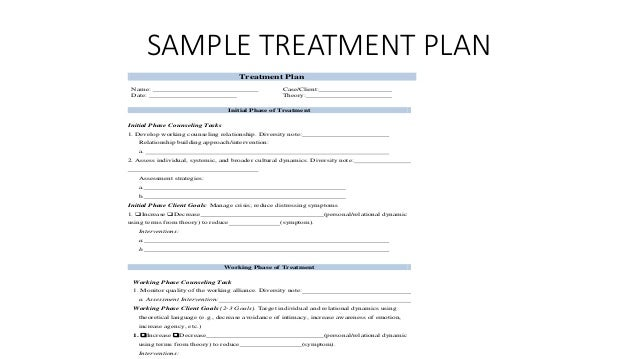 S m h treatment planning for Treatment plan template social work