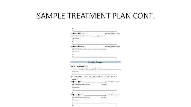 S.M.H.Treatment Planning