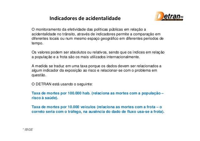 Balanço - Acidentes de Trânsito com Vítimas Fatais no RS - 2012 Slide 2