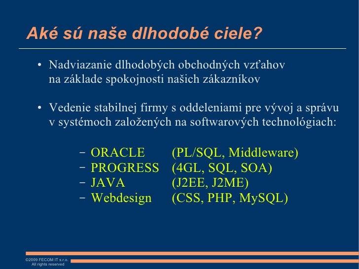 6bab5f92d FECOM IT s.r.o. - predstavenie spolocnosti