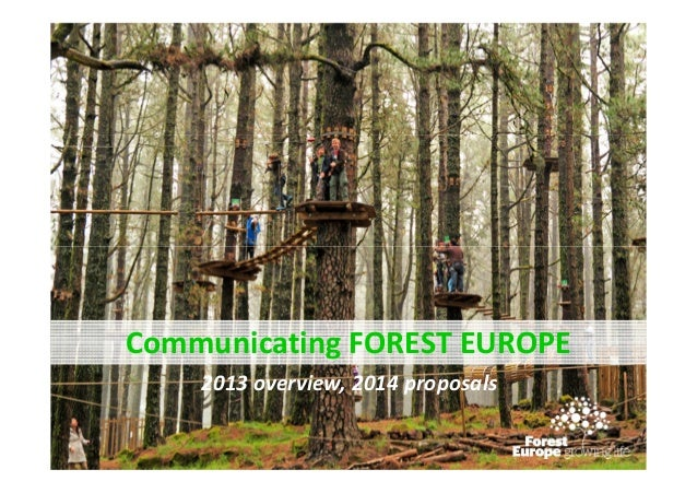 Communicating FOREST EUROPE 2013 overview, 2014 proposals