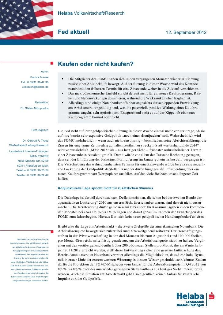 Helaba Volkswirtschaft/Research                                                   Fed aktuell                             ...