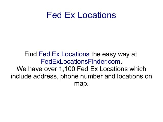 Fed Ex Locations