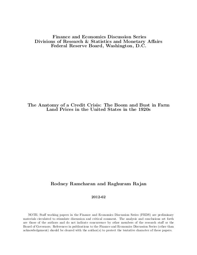 Finance and Economics Discussion Series       Divisions of Research & Statistics and Monetary Affairs              Federal ...
