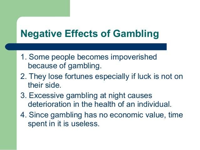 Bad effects of gambling slot machines rentals