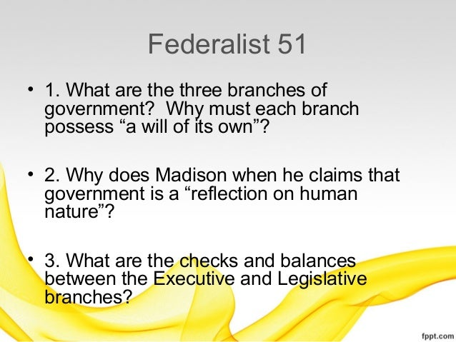 Federalist no 51 summary
