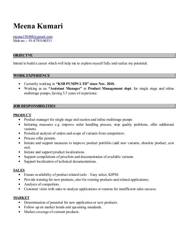 meena resume