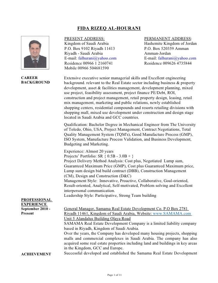 FIDA RIZEQ AL-HOURANI                   PRESENT ADDRESS:                              PERMANENT ADDRESS:                  ...