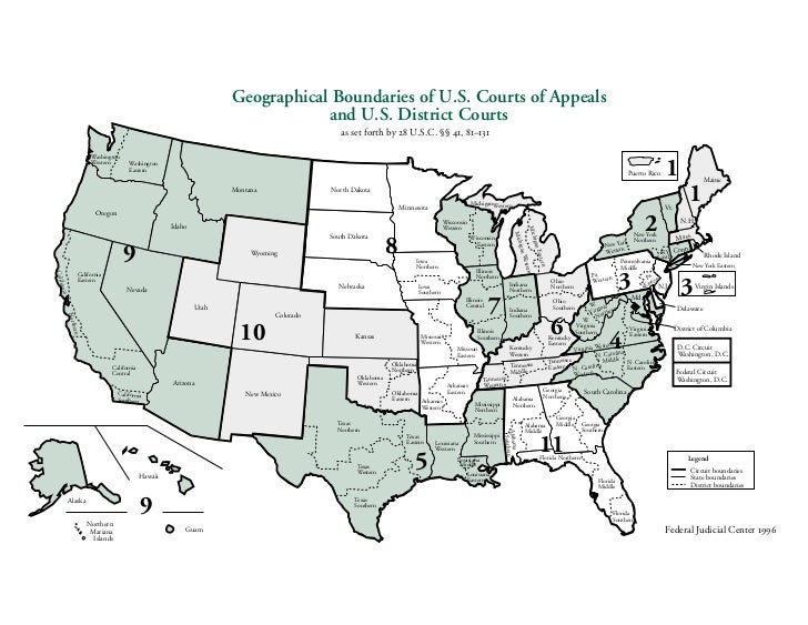 Fed Cts What They Do - How do us court circuits map