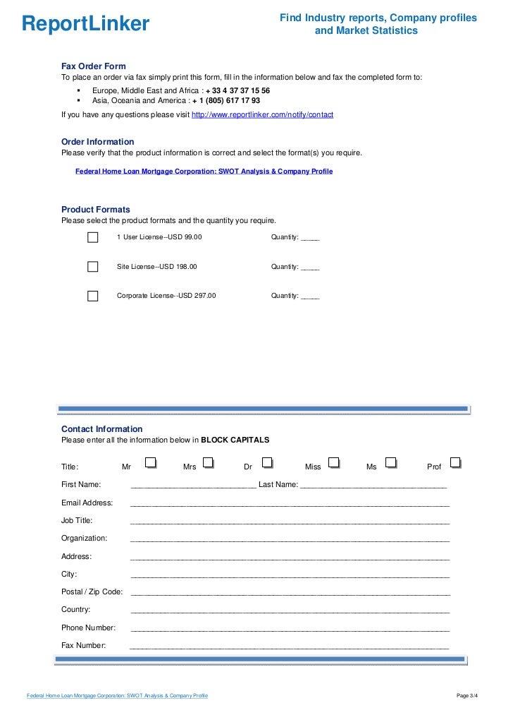 Federal Home Loan Mortgage Corporation: SWOT Analysis & Company Profi…