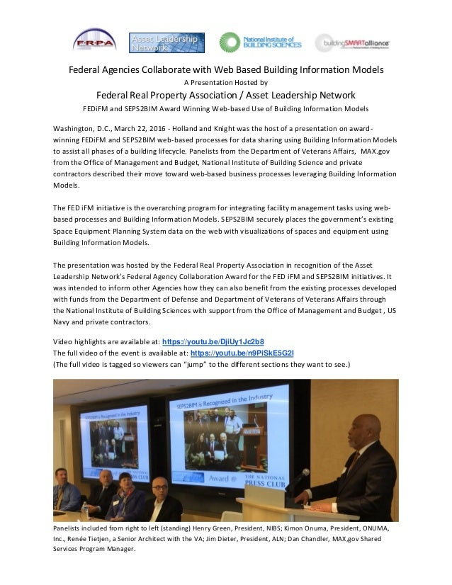 Federal Agencies Collaborate with Web Based Building Information Models A Presentation Hosted by Federal Real Property Ass...