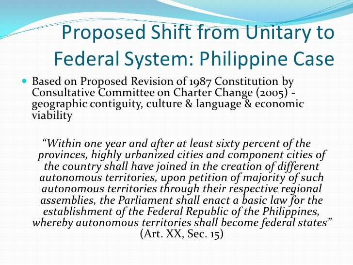 similarities between unitary and federal government
