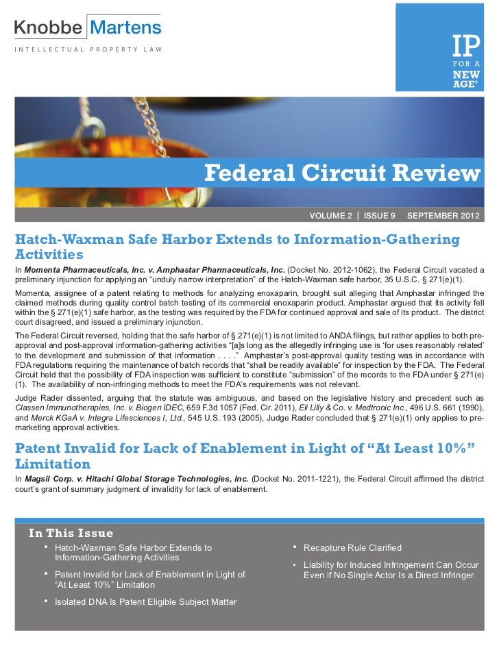 Federal Circuit Review                                                                                      VOLUME 2   ISS...