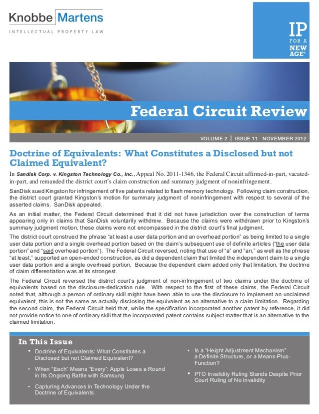 Federal Circuit Review                                                                                VOLUME 2 | ISSUE 11 ...
