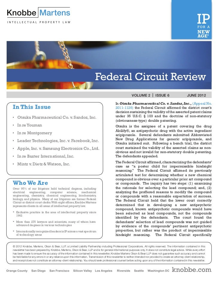Federal Circuit Review                                                                                                    ...