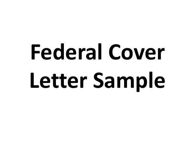 Federal Cover Letter Sample