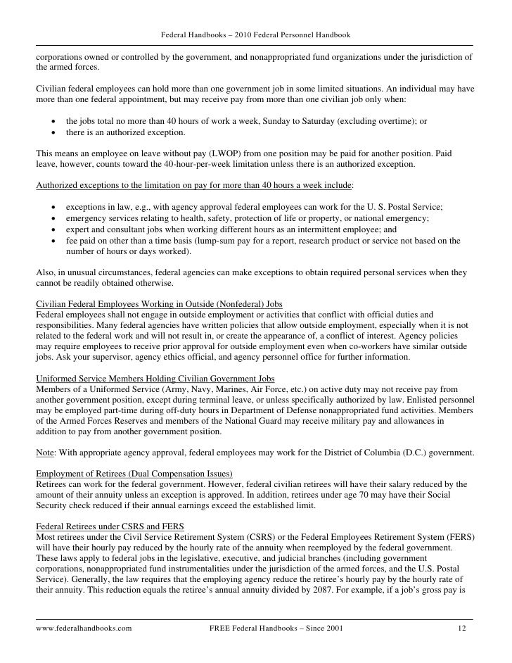 Federal Handbook 2010