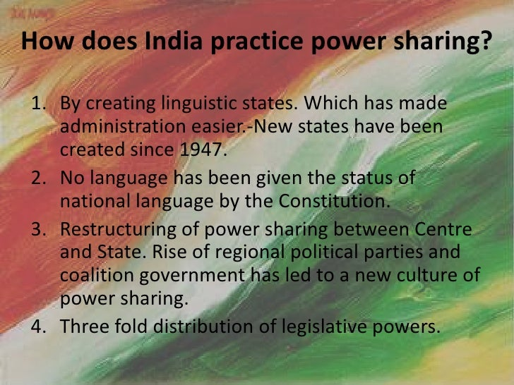 advantages of power sharing in india