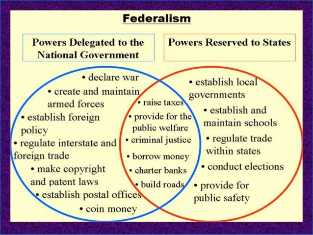 a comparison of the benefits of giving power over to the state government and federal government Federal law is created at the national level, and applies to the entire nation (all 50 states and the district of columbia), and us territories the us constitution forms the basis for federal law it establishes government power and responsibility, as well as preservation of the basic rights of.