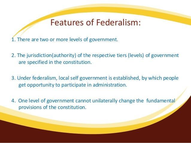 benefits of federalism