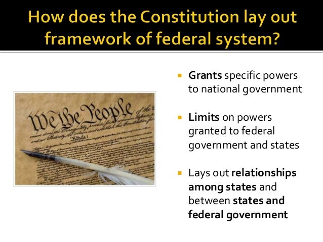 Federalism and Constitution