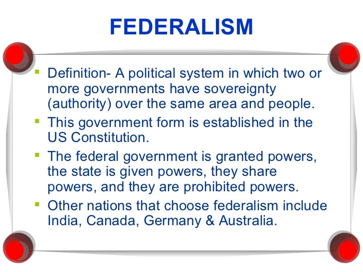 federal technique about governing administration definition