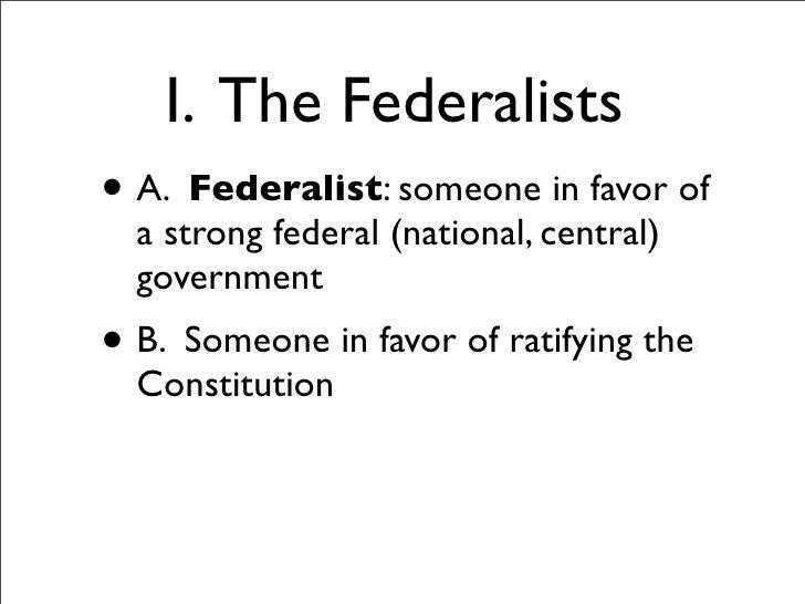 federalist arguments