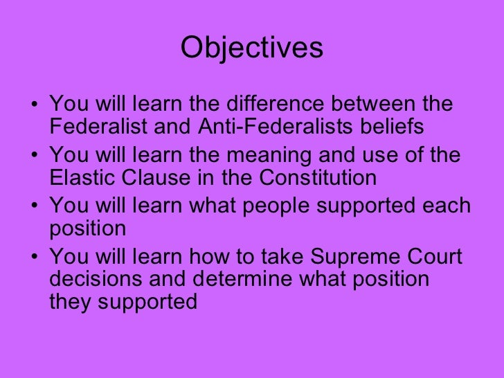 an analysis of the differences between the federalist and anti federalist I am writing a paper on the major differences between the federalists and anti-federalists how did the arguments of the federalists and the anti-federalists reflect their points of view.