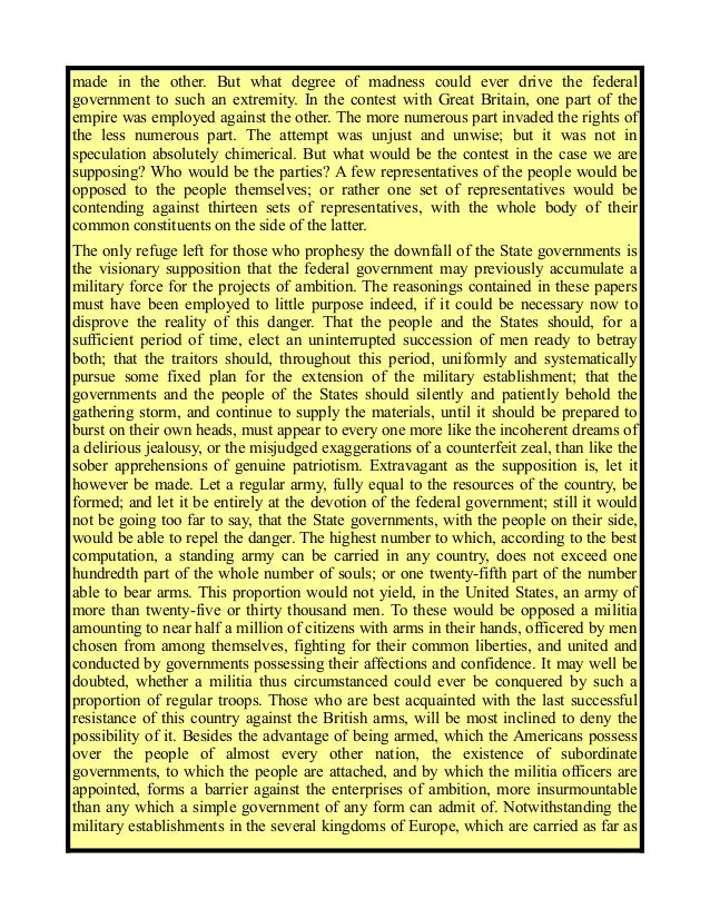 Federalist No. 46