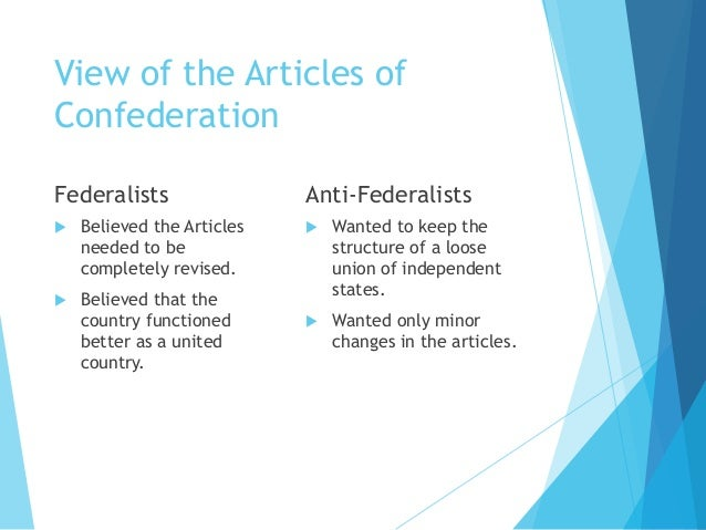 Weak spot involving all the Content pieces for Confederation