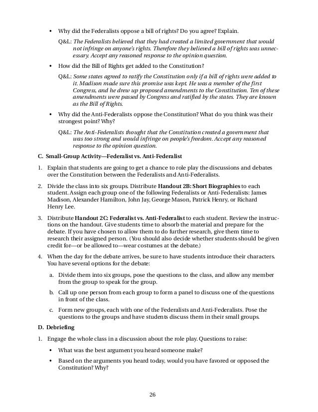 federalists vs anti federalists essay lens of anti federalism bill of rights institute lens of anti federalism bill of rights institute · federalist vs anti federalist essay